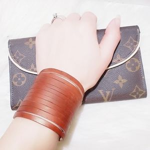 ❤ 4 for $25 ❤ New Stacked Leather Cord Bracelet